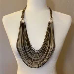 ✨NWT Kenneth Cole Snakeskin Multi Strand Necklace